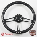 14'' Black Steering Wheel Kit Half Wrap with Horn Button