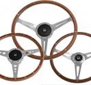 Laminated wood steering wheels