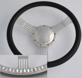 BILLET HALF WRAP STEERING WHEEL